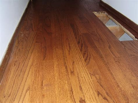 refinished oak with chestnut stain a repair of