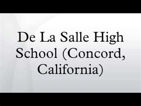 de la salle high school concord california