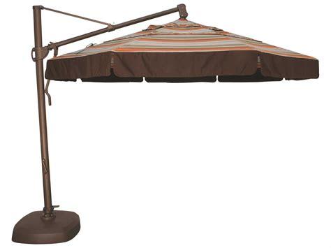 treasure garden cantilever aluminum 11 foot wide crank lift tilt lock umbrella akz