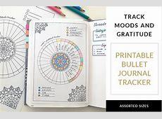 Free Printable Bullet Journal Tracker Gratitude and Mood