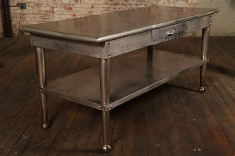 Vintage Stainless Steel Kitchen Table At 1stdibs. Old School Desk Lamp. Horseshoe Table. Office Desks Houston. Board Game Coffee Table. Full Over Desk Loft Bed. How To Have An Organized Desk. Small Crystal Table Lamp. Clock Coffee Table
