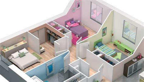 plan maison 3d maison plain pied lila maisons clair logis