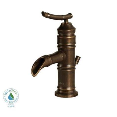 pegasus bamboo 4 in minispread 1 handle low arc bathroom faucet in heritage bronze 67109 8096h