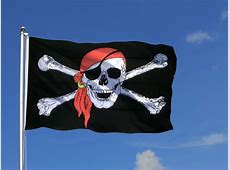 Large Pirate with bandana Flag 5x8 ft RoyalFlags