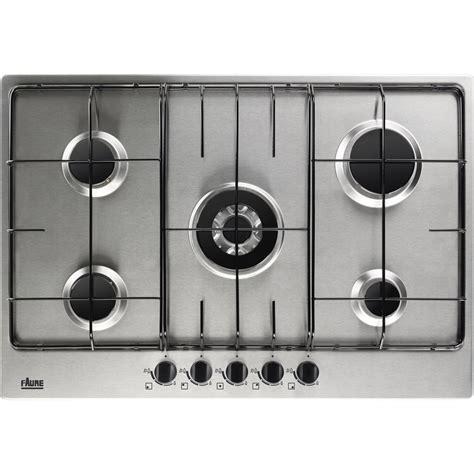 plaque de cuisson gaz 5 foyers inox faure fgg75524xa leroy merlin