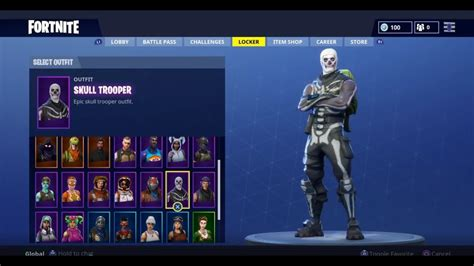 Skull Trooper/ghoul Trooper/renegade Raider Account For