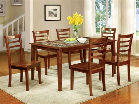 Fordville I Antique Oak 7 Piece Dining Table Set From