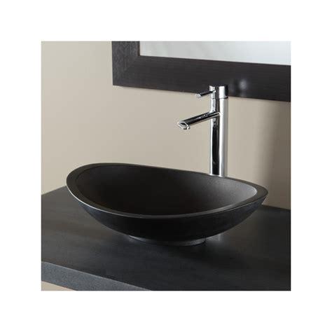 vasque 224 poser ovale en naturelle noir r 233 f b3r111063 produit b 226 timent