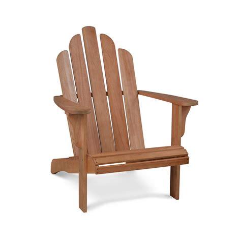 fauteuil de jardin bois adirondack pas cher eucalyptus fsc