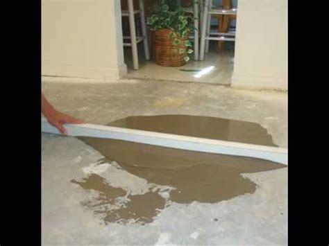 how can i prepare uneven concrete basement floor for vinyl