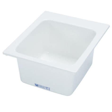 mustee 17 in x 20 in fiberglass self utility sink
