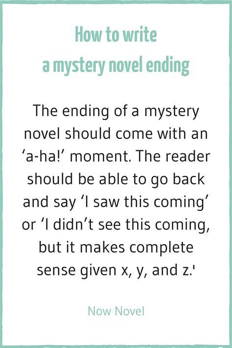 Writing A Mystery Novel  7 Elements  Now Novel