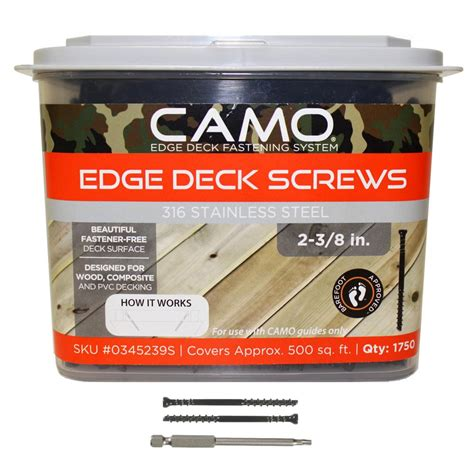 camo 2 3 8 in 316 stainless steel trimhead deck