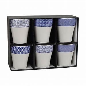 Geschirr Blau Weiß : 6er set teebecher 39 japan blau wei gemustert 39 japan blau tokyo design studio geschirr ~ Markanthonyermac.com Haus und Dekorationen