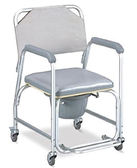 medmobile 174 aluminum portable commode shower wheelchair with toilet style seat and