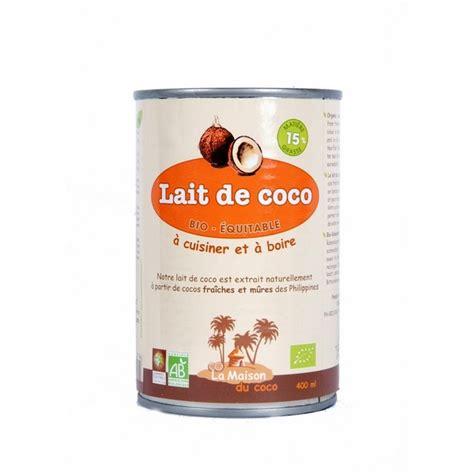 lait de coco 6 mg bio equitable 400ml la maison du coco acheter sur greenweez