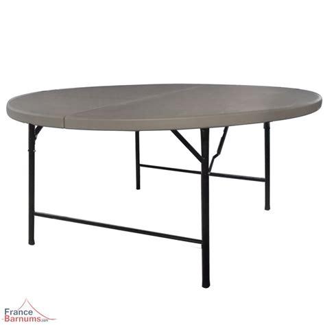 table de r 233 ception ronde grise de 152cm pliante en valise