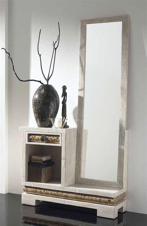 meuble d entr 233 e bambou avec miroir 1291