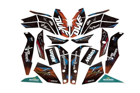 ktm duke 125 200 250 390 rokon sticker kit rok bagoros parts rokon fan shop