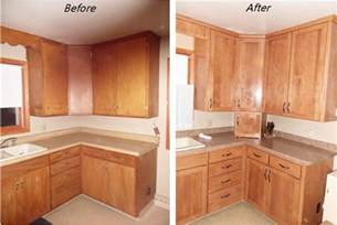 staining oak kitchen cabinets before and after cabinets