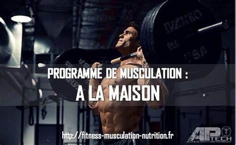 programme de musculation maison
