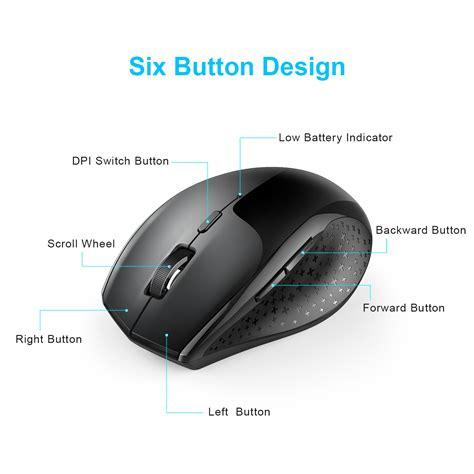 Tecknet Mouse by Tecknet Alpha 2 4g 3000dpi Wireless Mouse Black