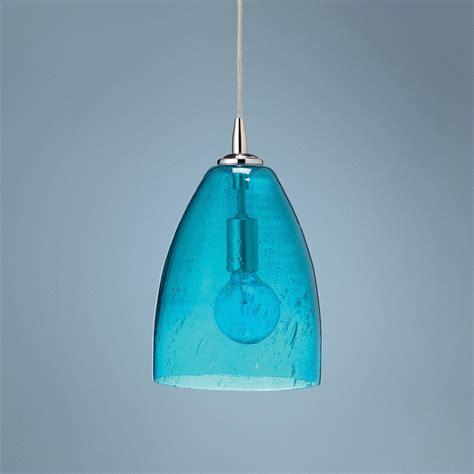 aqua glass pendant light pin by valerie griffith on lighting