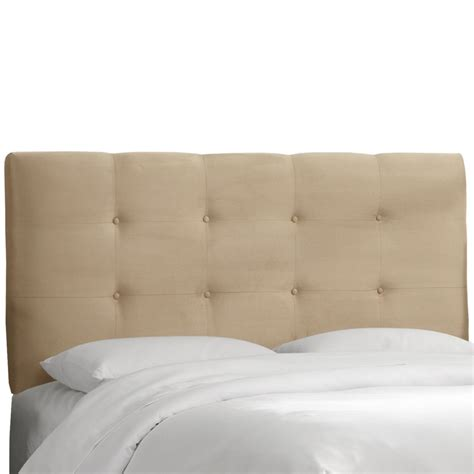 skyline furniture upholstered king headboard premier microsuede oatmeal the home depot canada