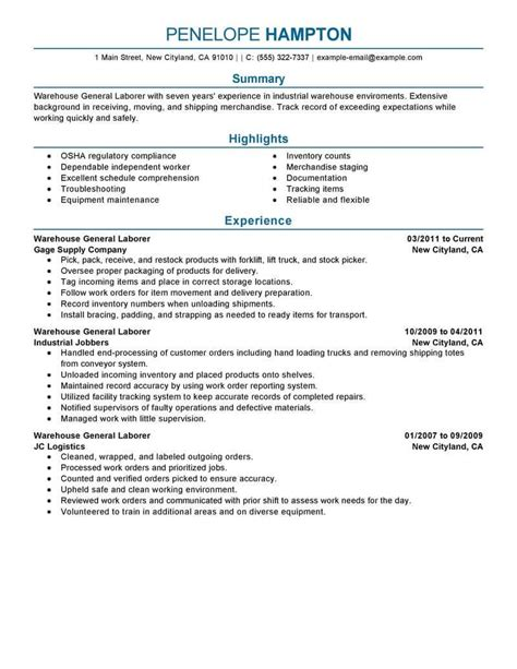Best General Labor Resume Example  Livecareer. Sample Resume For One Year Experienced Software Engineer. How To Prepare Your Resume For A Interview. How To Add Volunteering To Resume. Sample Resume For A Nurse. Pharmaceutical Rep Resume. Free Printable Resume Format. Technology Resume Samples. Machinist Resume Example