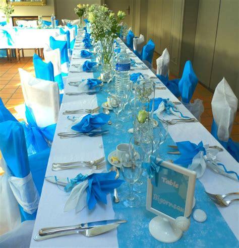 d 233 co de table en bleu turquoise et blanc deco de table bleu turquoise et argent