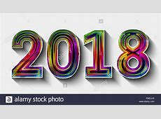New Year 2018 Vector Vectors Stock Photos & New Year 2018