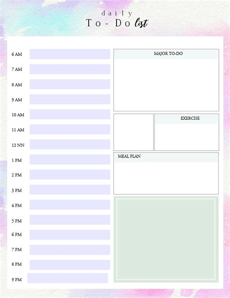 To Do List Template Printable Pinterest by Printable Daily To Do List Template To Get Things Done