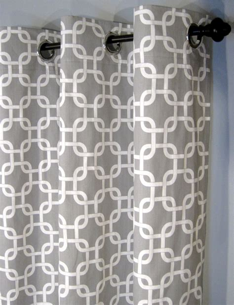 grey and white gotcha curtains with grommets two curtain