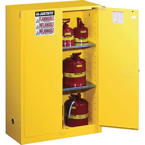 justrite safety cabinet 45 gallon self sure grip