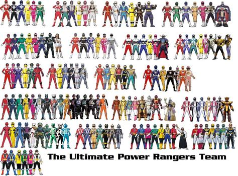 list of who the power rangers teamed up with the ultimate power rangers team by