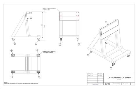 Small Boat Jack Stands by Building An O B Motor Stand Instructional Page 1