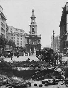 London, 1940: Bomb damage in The Strand resulting from a ...