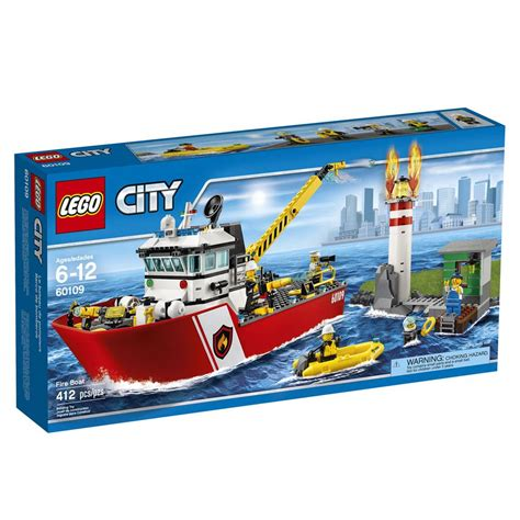 Toy Lego Boat by Lego City Fire Boat 60109 Toys Games