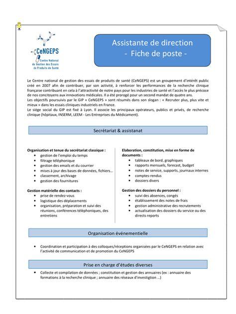 fiche de poste f 233 v 2012 par dieboltvi fiche de poste assistante d 176 cengeps f 233 v 2012 pdf