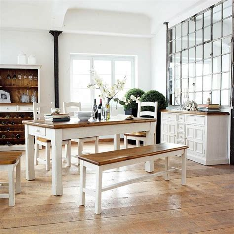 deco cagne chic salle a manger meubles blanc ideeco