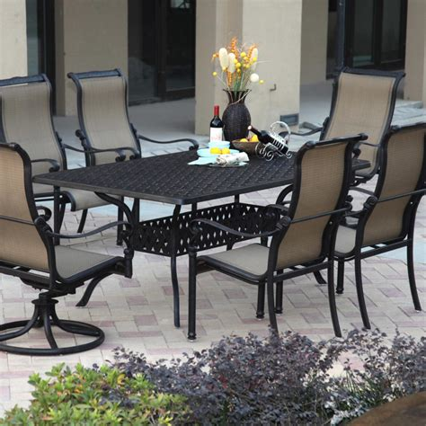 darlee monterey 6 person sling patio dining set
