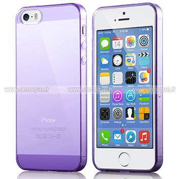 coque apple iphone 5s silicone transparent housse pourpre