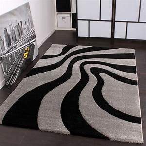 Teppich Grau Silber : designer teppich festival mit konturenschnitt muster silber schwarz grau wohn und schlafbereich ~ Markanthonyermac.com Haus und Dekorationen