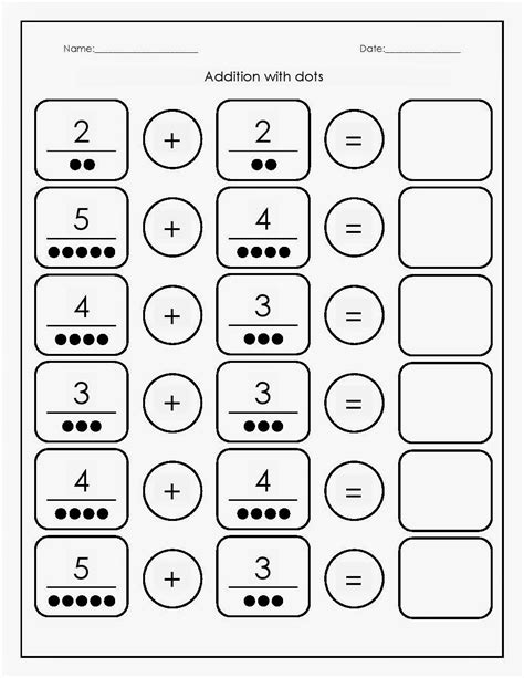 Preschool Math Worksheets Addition  {download Printable Pdf*}