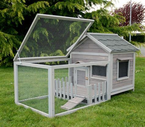 cage lapin clapier pour lapin bois animals cottage gris animaloo