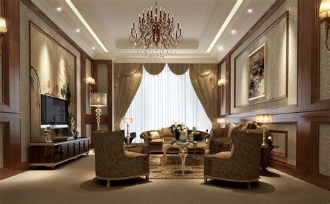 luxury living room 3d model max cgtrader
