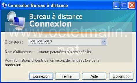 windows xp bureau 224 distance connexion www octetmalin net