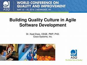 Building Quality Culture In Agile Software Development