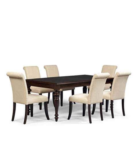 bradford 9 dining room furniture set with upholstered chairs furniture macy s