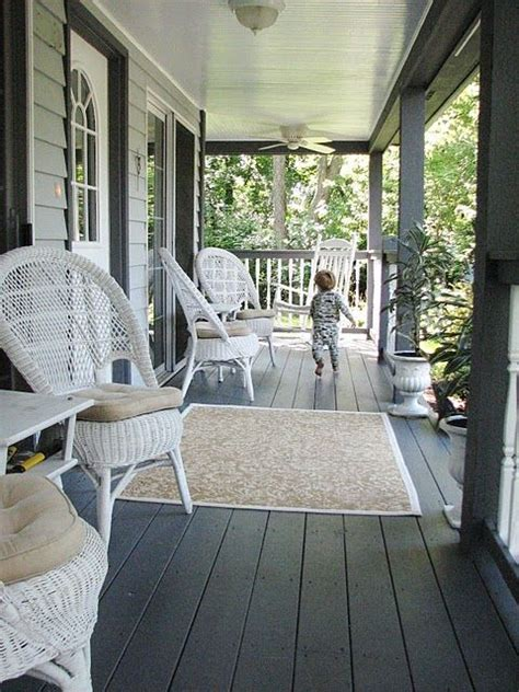 porch could paint the floor a charcoal gray for the